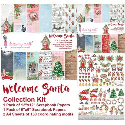 Dress My Crafts Collection Kit Designpapier - Welcome Santa
