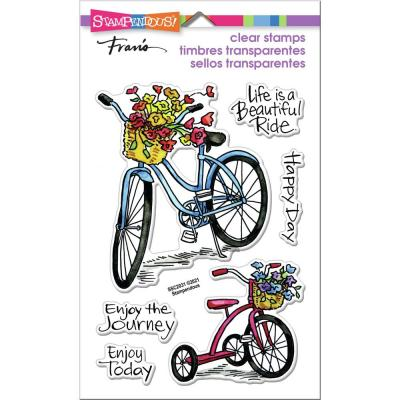 Stampendous Perfectly Clear Stamps - Basket Bikes