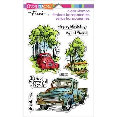 Stampendous Perfectly Clear Stamps - Truck Friends