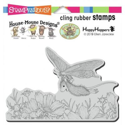 Stampendous House Mouse Cling Stamp - Butterfly Soaring
