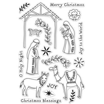 Hero Arts Clear Stamps - Floral Nativity