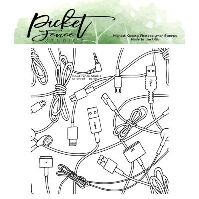 Picket Fence Studios Clear Stamp - All Wired
