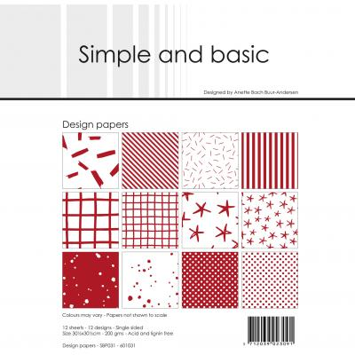 Simple and Basic Paper Pad Designpapier - Basic Rot