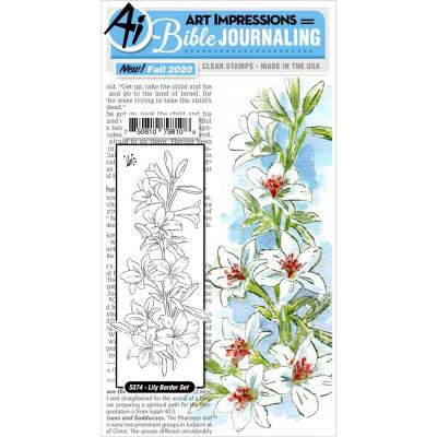 Art Impressions Bible Journaling Clear Stamp - Lily Border
