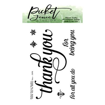 Picket Fence Studios Clear Stamp - Thank You for Being You