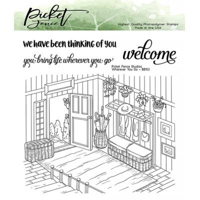 Picket Fence Studios Clear Stamp - Wherever You Go