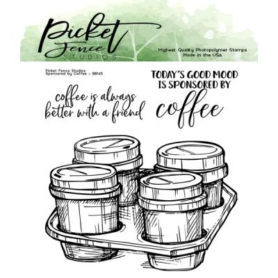 Picket Fence Studios Clear Stamp - Sponsored by Coffee