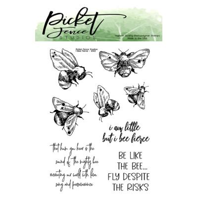 Picket Fence Studios Clear Stamp - I Bee Fierce