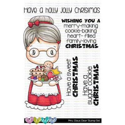 C.C. Designs Clear Stamps - Mrs. Claus Swissie