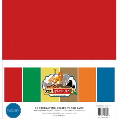 Carta Bella Zoo Adventure - Solids Paper Pack
