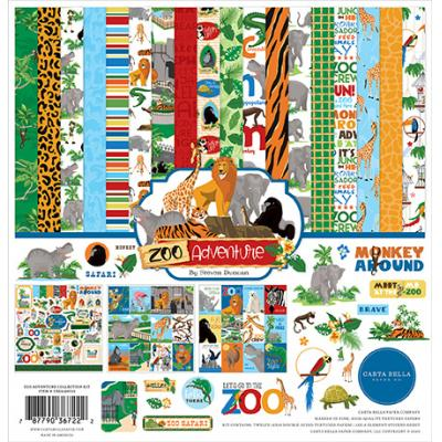 Carta Bella Zoo Adventure Designpapier - Collection Kit