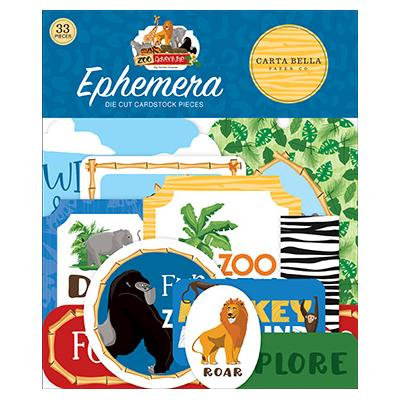 Carta Bella Zoo Adventure Die Cuts - Ephemera