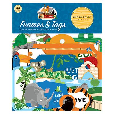 Carta Bella Zoo Adventure Die Cuts - Frames & Tags