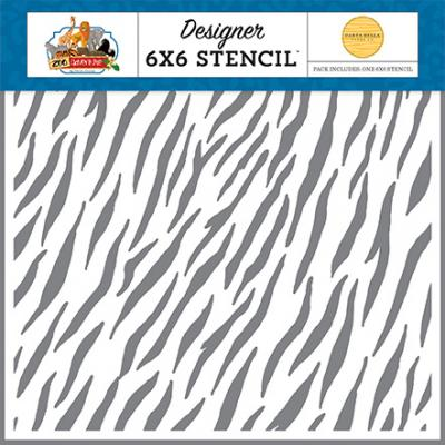 Carta Bella Zoo Adventures Stencil - Zebra