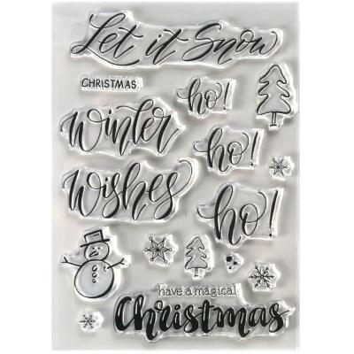 Elizabeth Crafts Clear Stamps - Snow