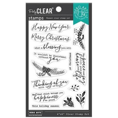 Hero Arts Clear Stamps - Holiday Blessings