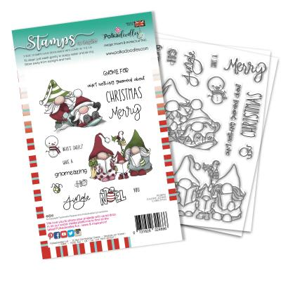 Polkadoodles Clear Stamps - Gnomeazing Christmas