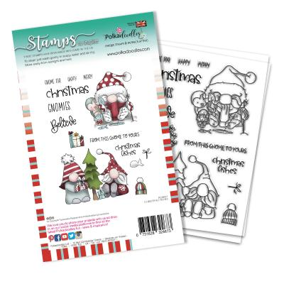 Polkadoodles Clear Stamps - Christmas Fishes