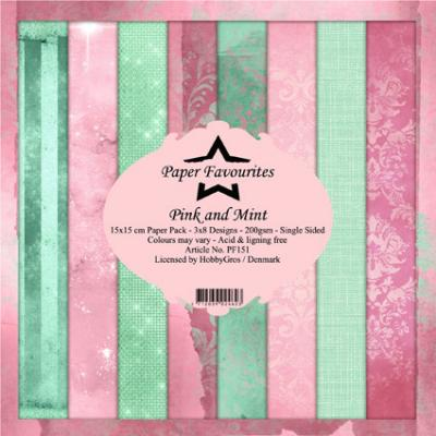 Dixi Craft Designpapier - Pink and Mint