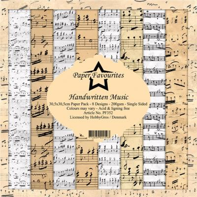Dixi Craft Designpapier - Handwritten Music
