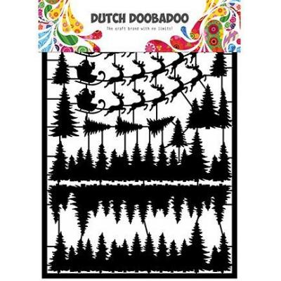 Dutch DooBaDoo Paper Art - Santa
