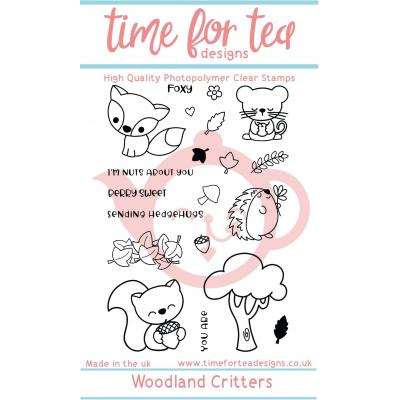 Time For Tea Clear Stamps - Woodland Critters