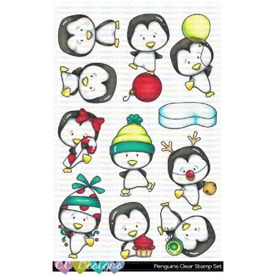 C.C. Designs Clear Stamps - Penguins