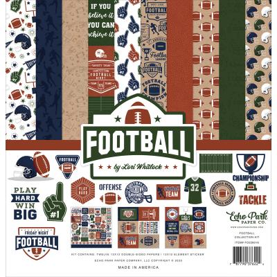 Echo Park Football Designpapier - Collection Kit