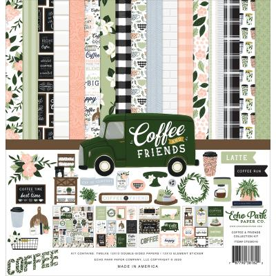 Echo Park Coffee & Friends Designpapier - Collection Kit