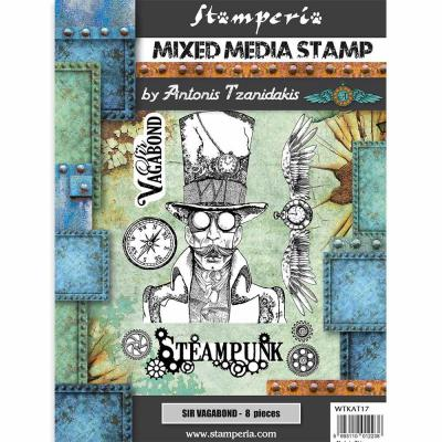 Stamperia Sir Vagabond Rubber Stamps - Steampunk