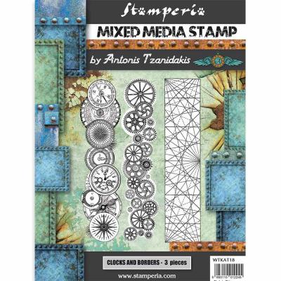 Stamperia Sir Vagabond Rubber Stamps - Steampunk Borders