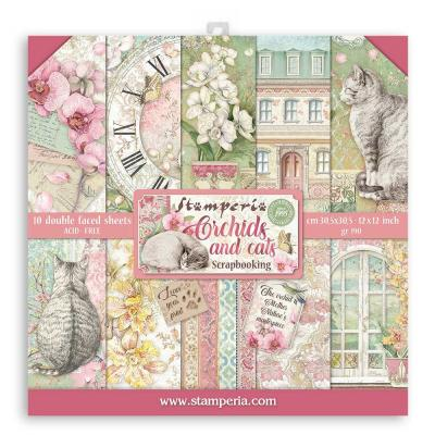 Stamperia Orchids and Cats Designpapier - Paper Pack