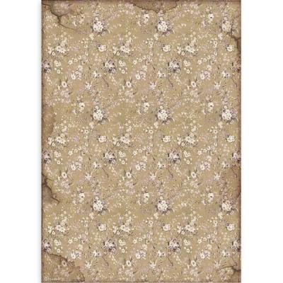 Stamperia Lady Vagabond Rice Paper - White Flowers
