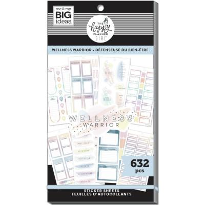 me & my BIG ideas The Happy Planner Value Pack Sticker - Wellness Warrior