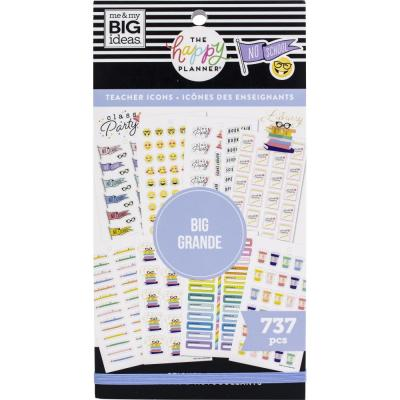 me & my BIG ideas The Happy Planner Value Pack Sticker - Icons Teacher Big