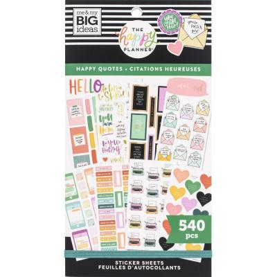 me & my BIG ideas The Happy Planner Value Pack Sticker - Happy Quotes