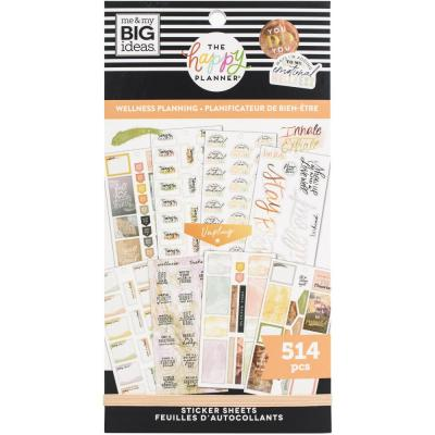 me & my BIG ideas The Happy Planner Value Pack Sticker - Wellness Planning