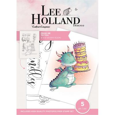 Crafter's Companion Lee Holland Clear Stamps - From Me to You