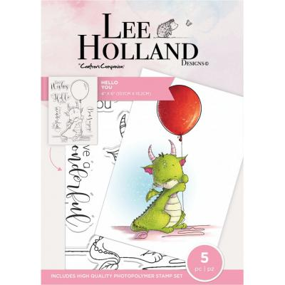 Crafter's Companion Lee Holland Clear Stamps - Hello You