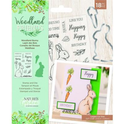 Crafter's Companion Woodland Friends Stamp & Die - Woodland Bunny