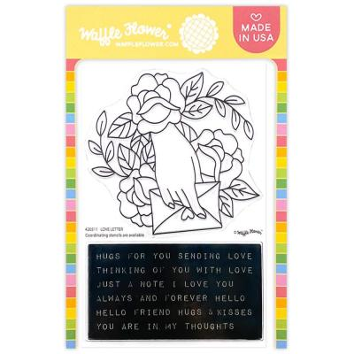 Waffle Flower Crafts Clear Stamps -  Love