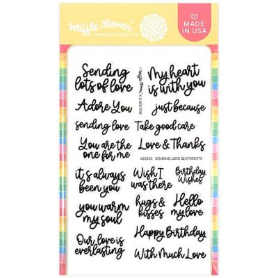 Waffle Flower Crafts Clear Stamps - Sending Love Sentiments