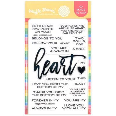 Waffle Flower Crafts Clear Stamps - Oversized Heart