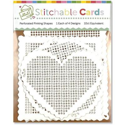 Waffle Flower Stitchable Cards - Perforated Pinking Shapes
