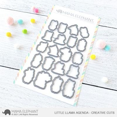Mama Elephant Creative Cuts - Little Llama Agenda