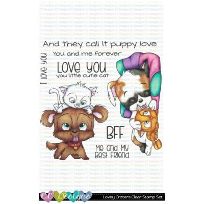 C.C. Designs Clear Stamps - Lovey Critter