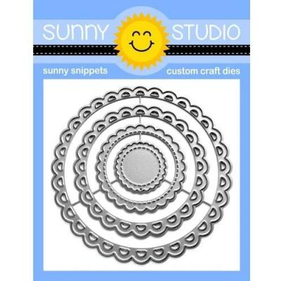 Sunny Studio Dies - Scalloped Circle Mat 3