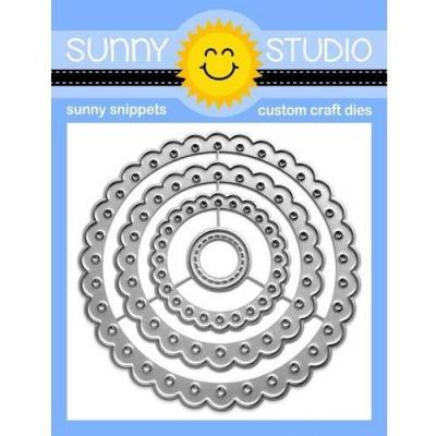 Sunny Studio Dies - Scalloped Circle Mat 2