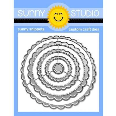 Sunny Studio Dies - Scalloped Circle Mat 1