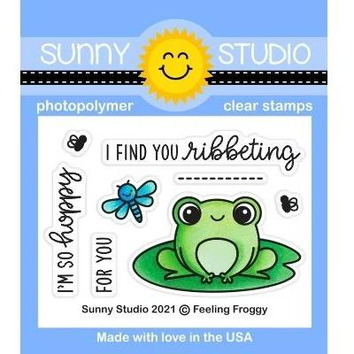 Sunny Studio Clear Stamps - Feeling Froggy